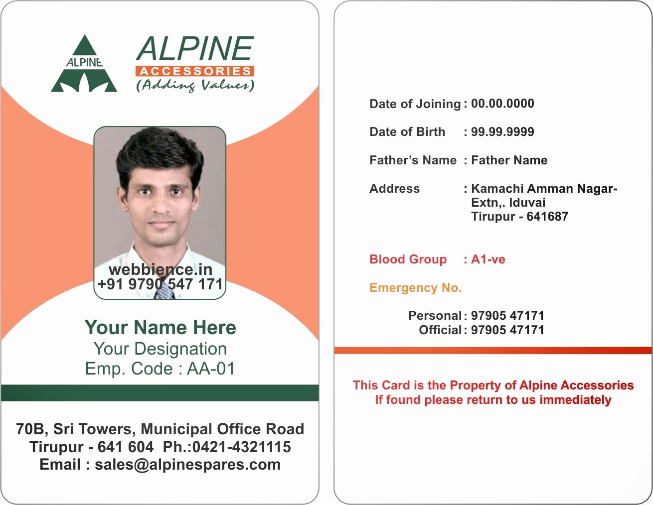 Employee Identification Card Template Inspirational Template Galleries Employee Id Card Templates C