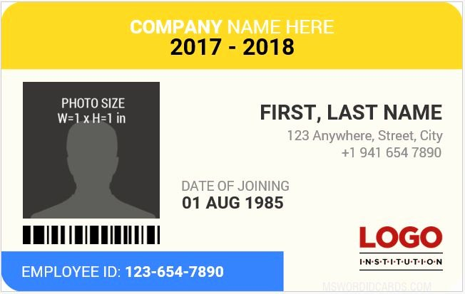 Employee Identification Card Template Lovely 10 Best Staff Id Card Templates Ms Word