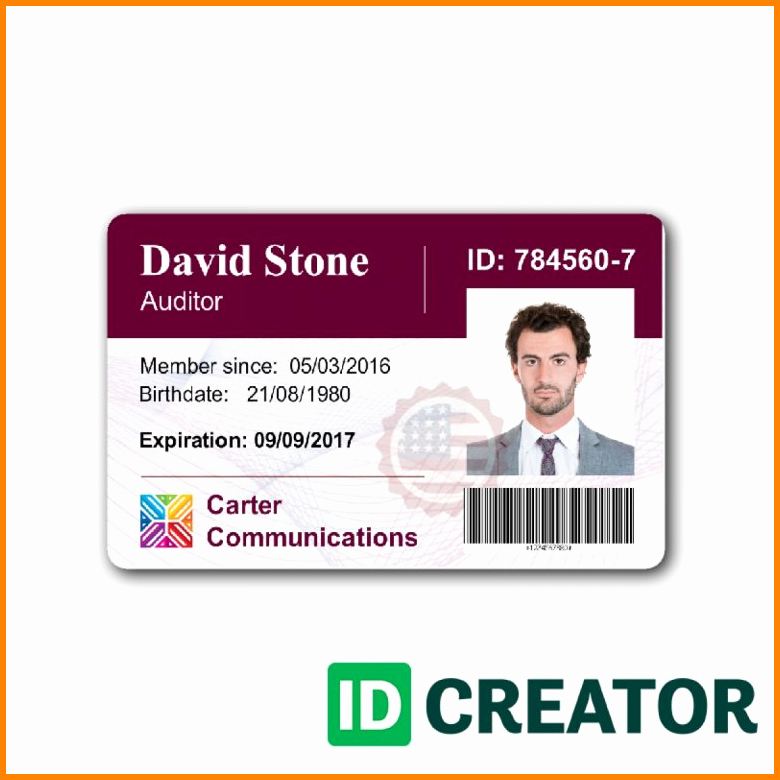 Employee Identification Card Template New 5 Employee Badge Template