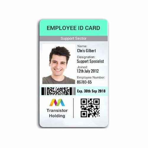 Employee Identification Card Template Unique Employee Id Card Pany Id Card Employee Card Employee
