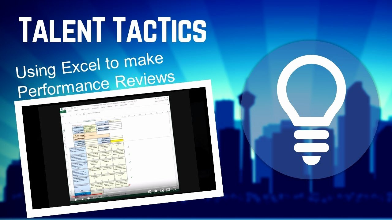 Employee Performance Review Template Excel Luxury Performance Review Using Excel