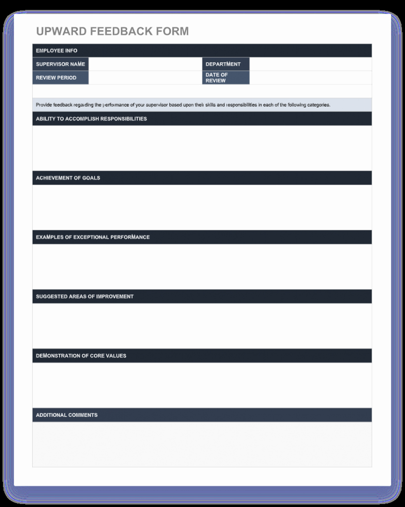 Employee Performance Review Template Free Lovely 70 Free Employee Performance Review Templates Word Pdf