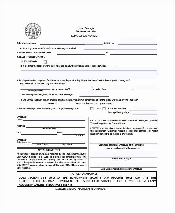 Employee Separation Agreement Template Elegant 23 Of Business Separation Agreement Template Texas