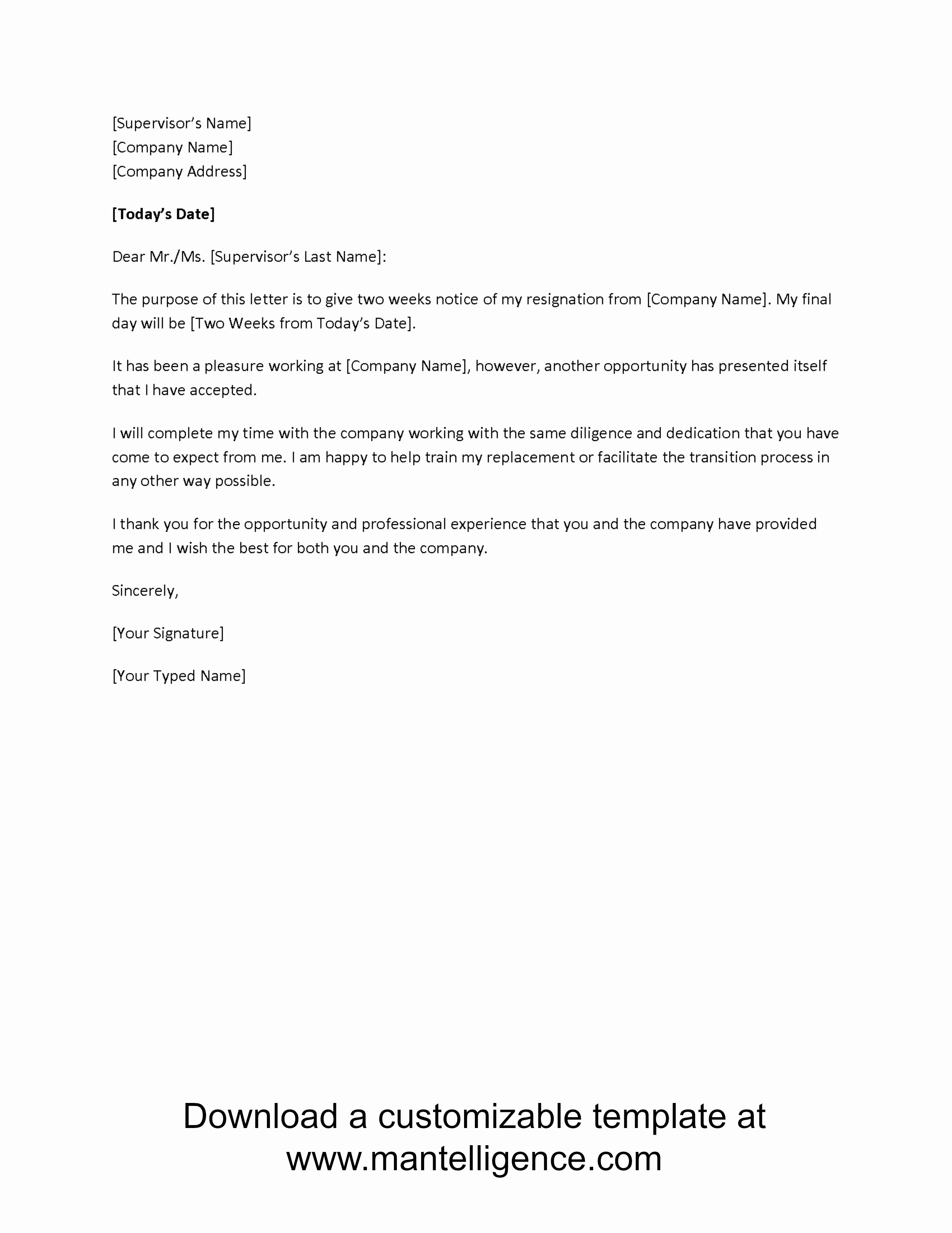 Employee Separation Agreement Template Elegant Letter Separation From Employer Template Samples