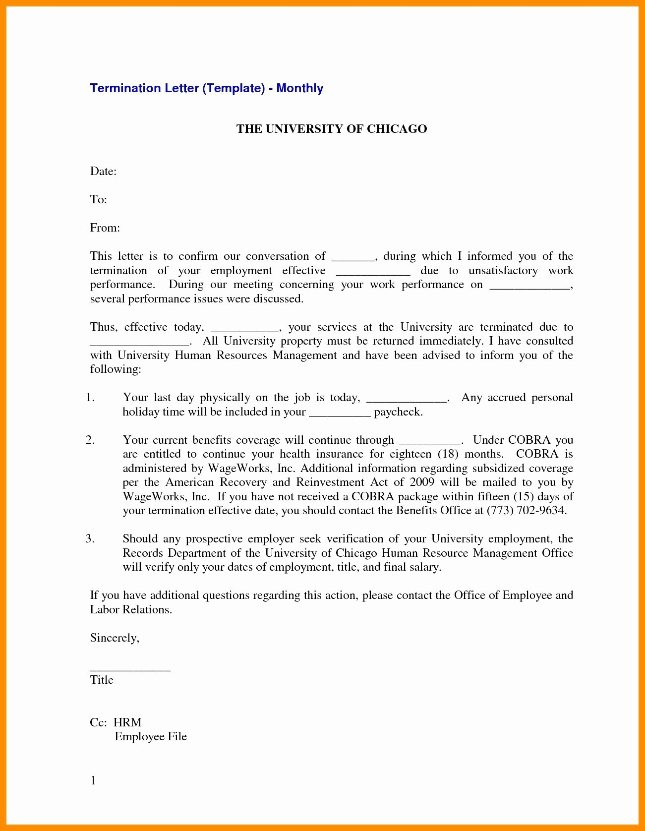 Employee Separation Agreement Template Fresh Letter Separation From Employer Template Samples