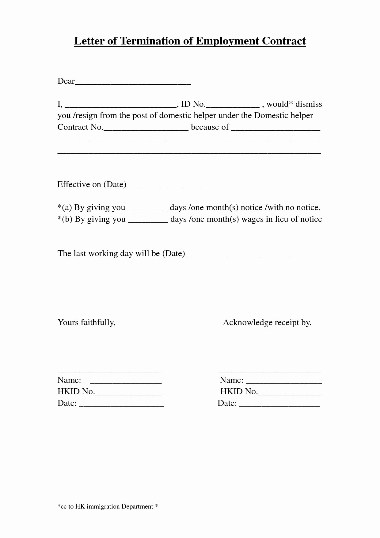 Employee Separation Agreement Template New Letter Separation From Employer Template Samples