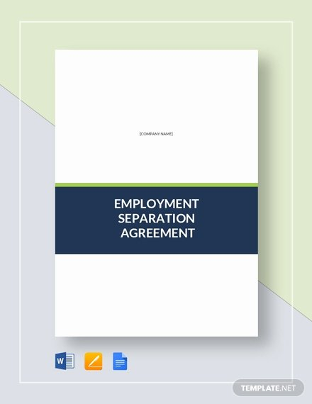 Employee Separation Agreement Template New Separation Agreement Template Download 330 Agreements In