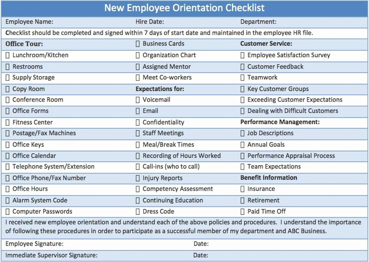 Employee Training Checklist Template Awesome 19 Best Employee forms Images On Pinterest