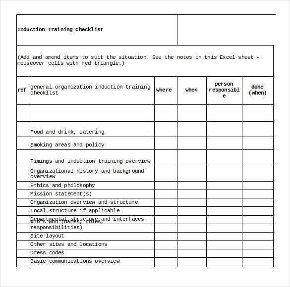 Employee Training Checklist Template Awesome Training Checklist Template 21 Free Word Excel Pdf