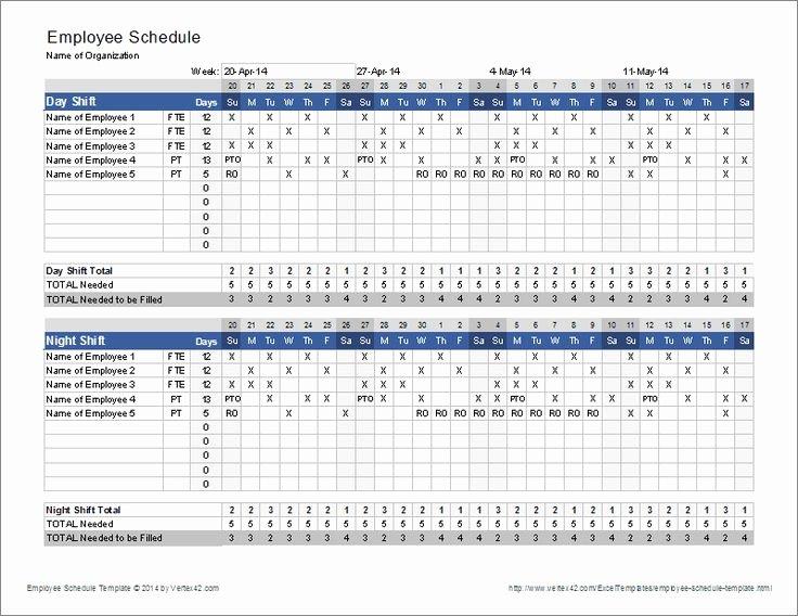 Employee Work Plan Template Best Of Download the Employee Schedule Template From Vertex42