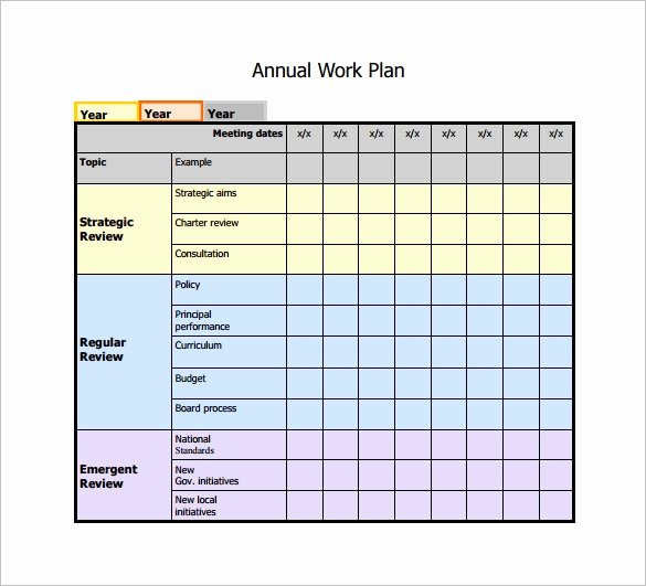 Employee Work Plan Template Inspirational Work Plan Template 12 Free Word Pdf Documents Download