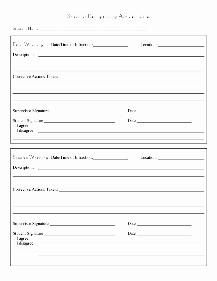 Employee Write Up form Template Inspirational 46 Effective Employee Write Up forms [ Disciplinary