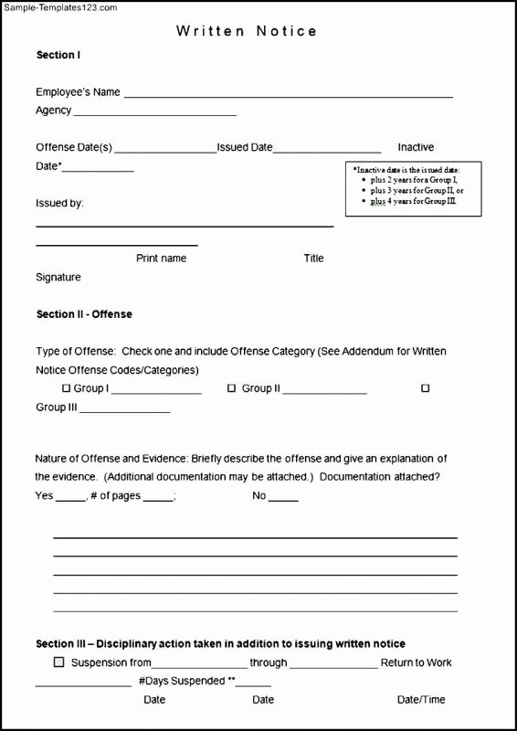 Employee Write Up form Template Luxury Employee Write Up form Free Printable