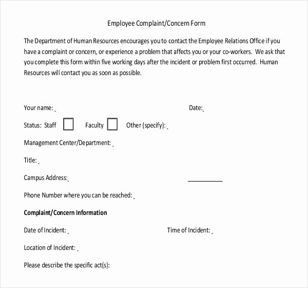 Employee Write Up form Template Luxury Write Up
