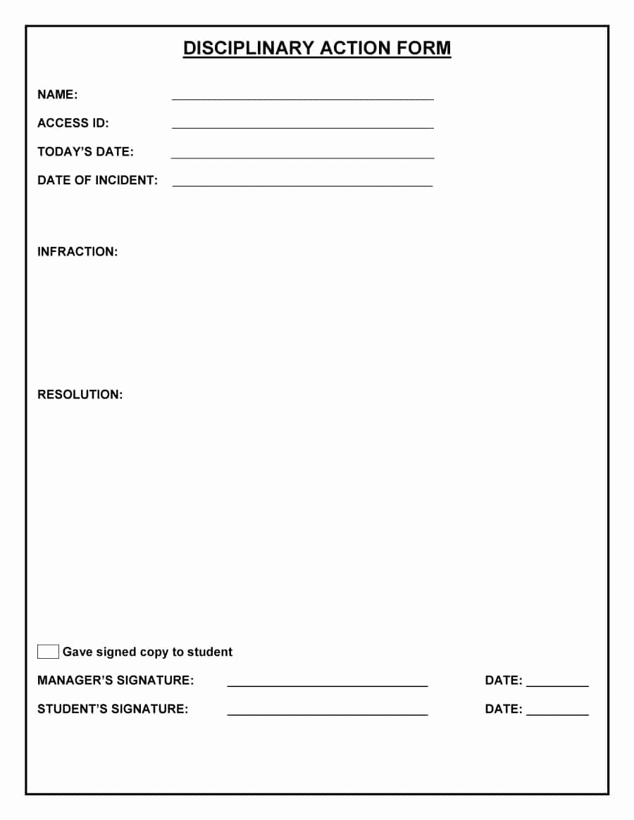 Employee Write Up forms Template Awesome 46 Effective Employee Write Up forms [ Disciplinary