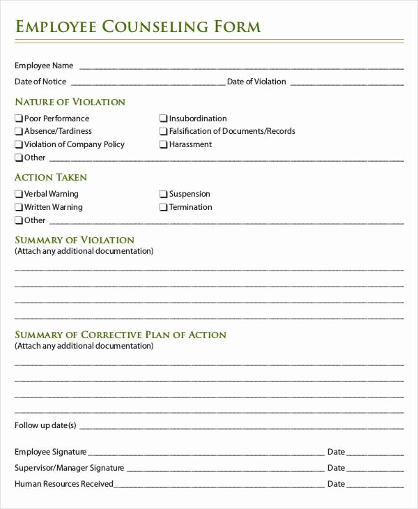 Employee Write Up forms Template Inspirational Employee Write Up form 6 Free Word Pdf Documents