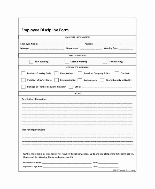 Employee Write Up forms Template Lovely 23 Employee Write Up form Free Download [word Pdf]