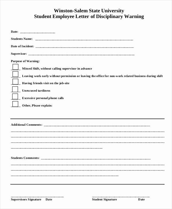 Employee Write Up Templates Luxury Employee Write Up form 6 Free Word Pdf Documents