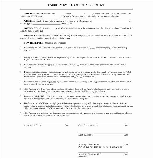 Employment Agreement Template Word Fresh 10 Employment Agreement Templates