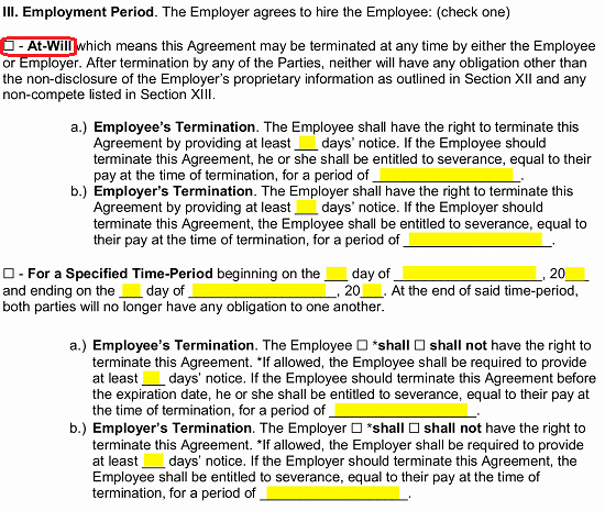 Employment Agreement Template Word Fresh Free Employment Contract Agreement Pdf Word