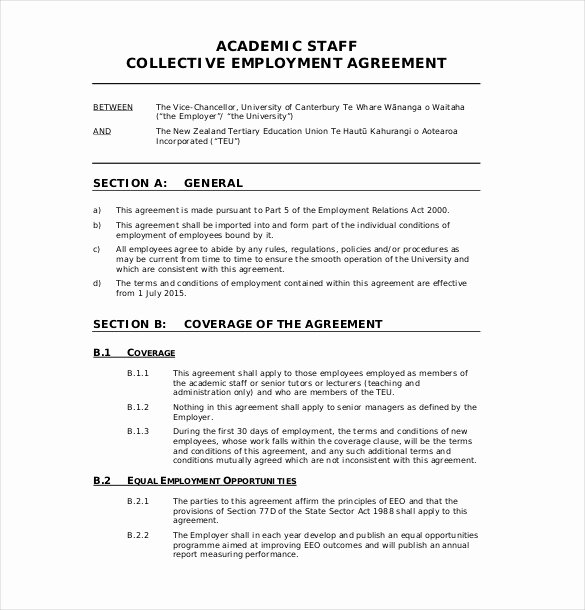 Employment Agreement Template Word Luxury 32 Employment Agreement Templates – Free Word Pdf format
