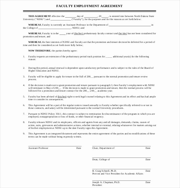 Employment Contract Template Word Beautiful 10 Employment Agreement Templates
