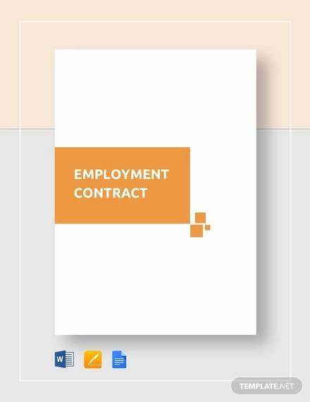 Employment Contract Template Word Lovely Free 23 Sample Employment Contract Templates In Google