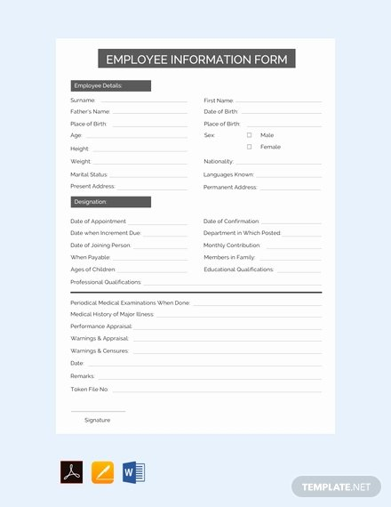 Employment Information form Template Awesome Free Phone Call Log form Template Download 125 forms In