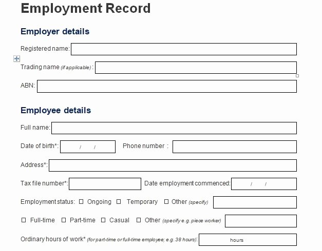 Employment Information form Template Beautiful Employee Information form Template Download