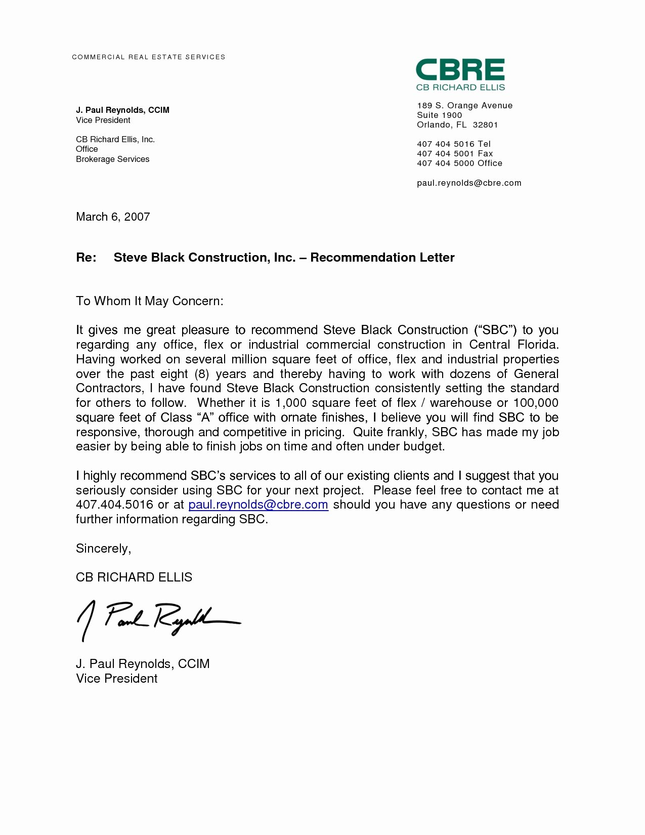 Employment Letter Of Recommendation Template New Work Re Mendation Letter Sample