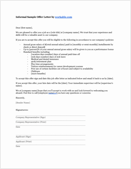 Employment Offer Letter Templates Awesome 8 Job Offer Letter Templates for Every Circumstance Plus