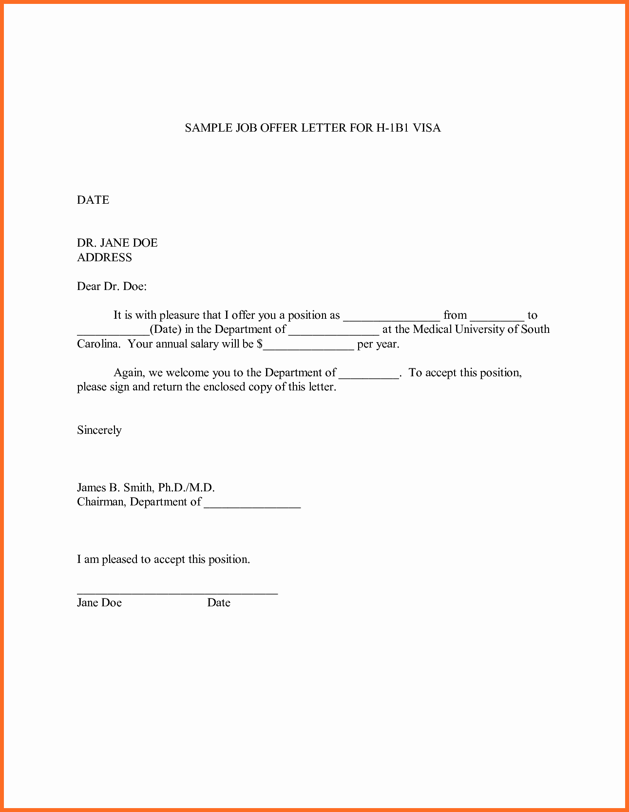 Employment Offer Letter Templates Awesome Sample Fer Letter