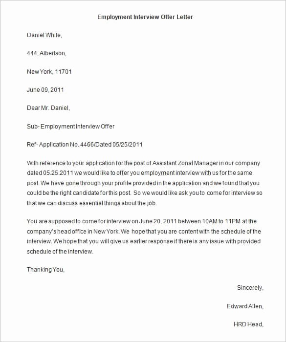 Employment Offer Letter Templates Best Of 75 Fer Letter Templates Pdf Doc