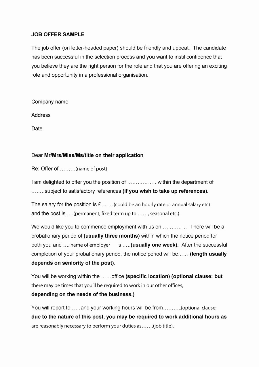 Employment Offer Letter Templates Elegant 44 Fantastic Fer Letter Templates [employment Counter