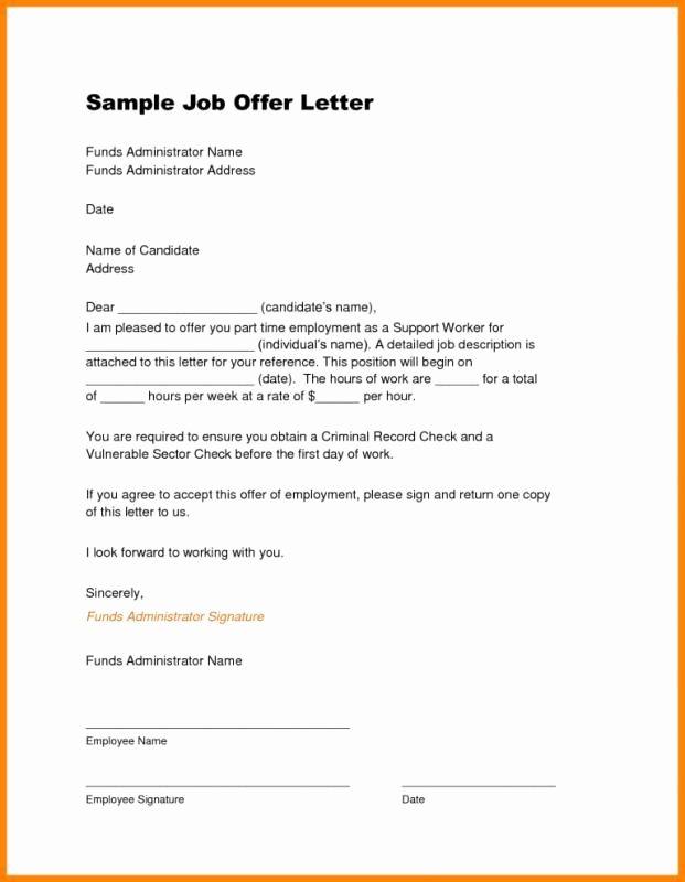 Employment Offer Letter Templates Lovely Job Offer Letter Template Job Offer Template Job Offer