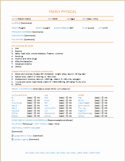 Employment Physical form Template Elegant 20 Medical form Logs Sheets & Templates