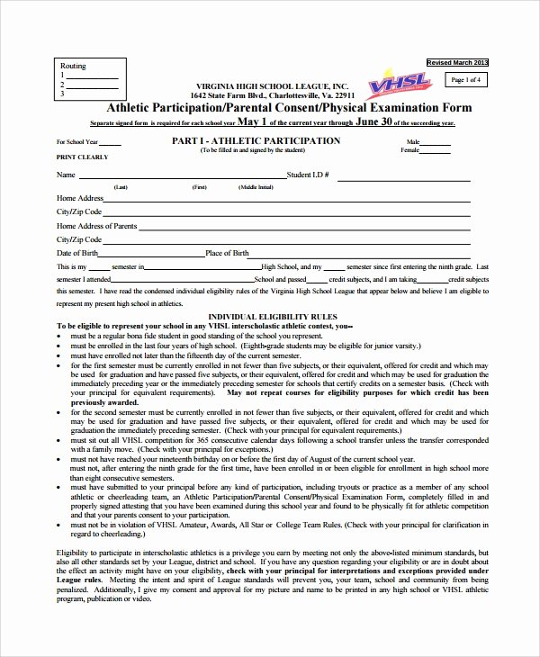 Employment Physical form Template New 9 Sample Physical Exam forms – Pdf