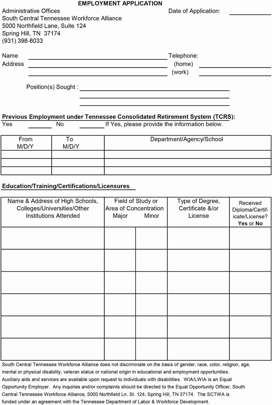 Employment Physical form Template Unique 50 Free Employment Job Application form Templates