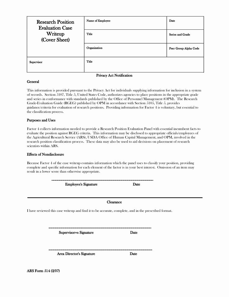 Employment Write Up Template New Emloyment Write Up