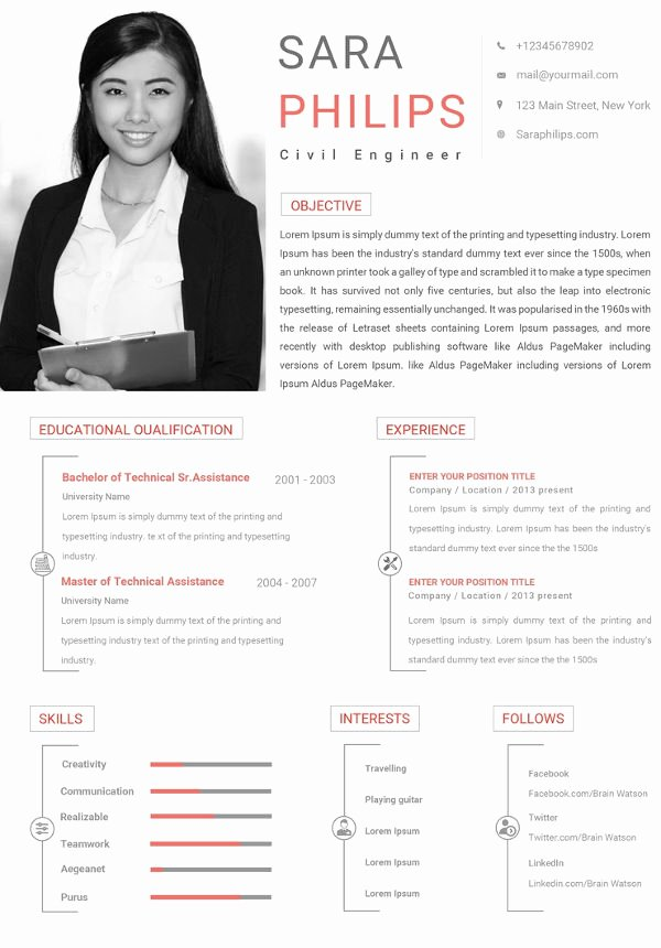 Engineer Resume Template Word Beautiful 10 Civil Engineer Resume Templates Word Excel Pdf