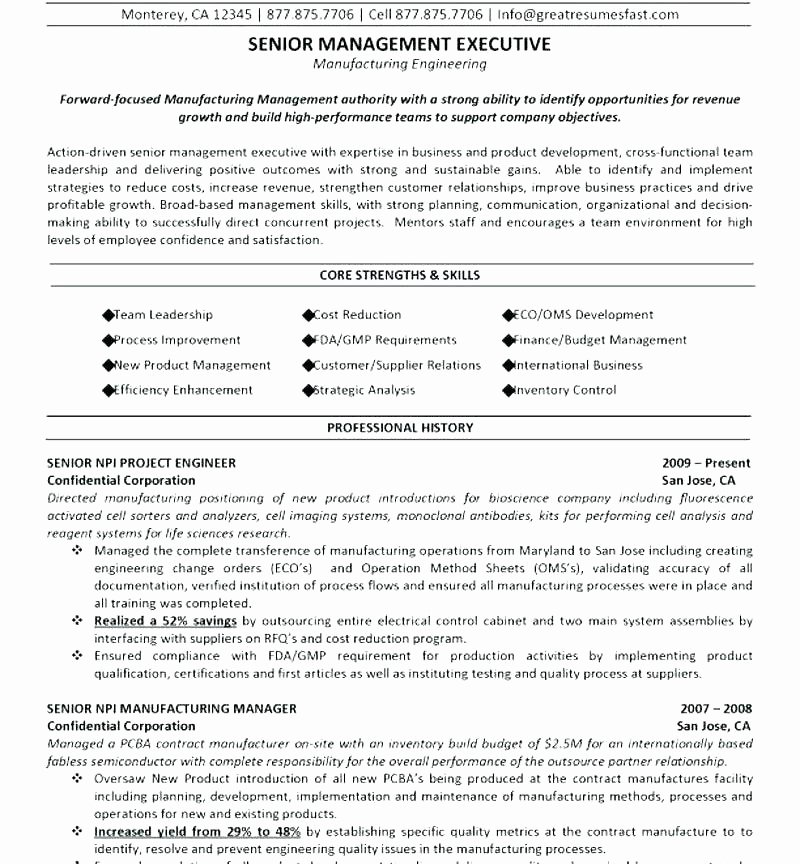 Engineer Resume Template Word Beautiful 9 10 Sample Resume for Electrical Engineer