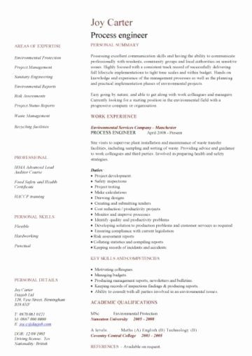 Engineer Resume Template Word Best Of Engineering Cv Template Engineer Manufacturing Resume