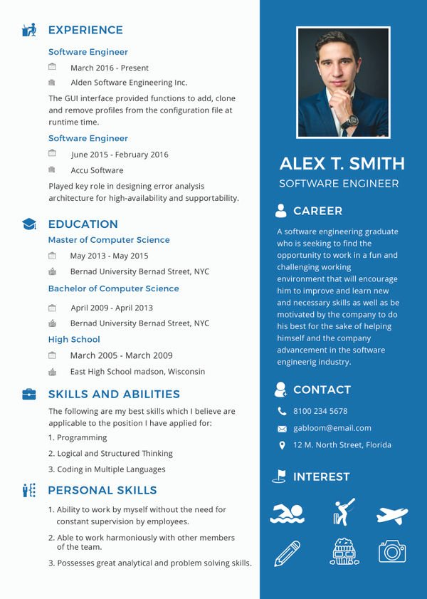 Engineer Resume Template Word Best Of software Engineer Resume Example 10 Free Word Pdf