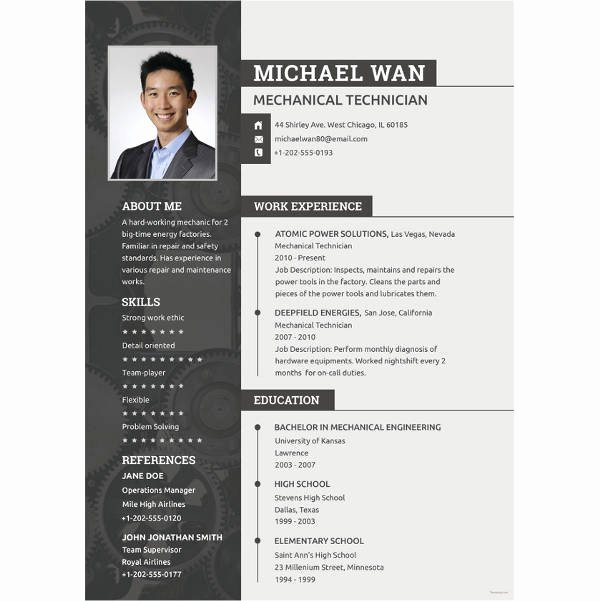 Engineer Resume Template Word Elegant 10 Mechanical Engineering Resume Templates Pdf Doc