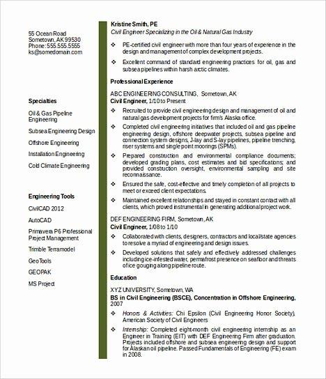 Engineer Resume Template Word Elegant some Necessary Keys for Civil Engineering Resume
