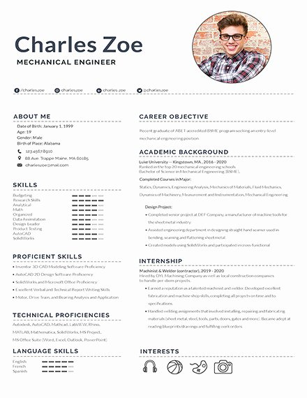 Engineer Resume Template Word Fresh 10 Mechanical Engineering Resume Templates Pdf Doc