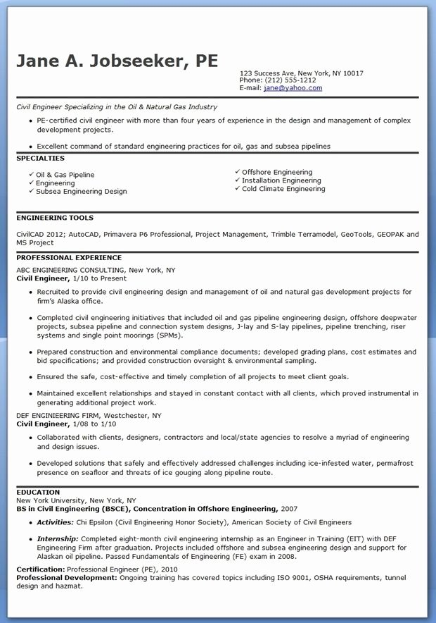 Engineer Resume Template Word Fresh Civil Engineer Resume Template Experienced