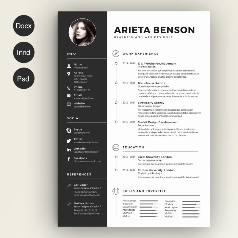 Engineer Resume Template Word Fresh Civil Engineer Resume Template Word Psd and Indesign