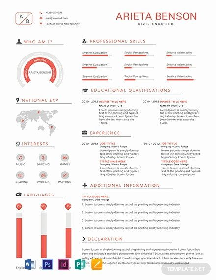 Engineer Resume Template Word Fresh Free Professional Civil Engineer Resume Template Word