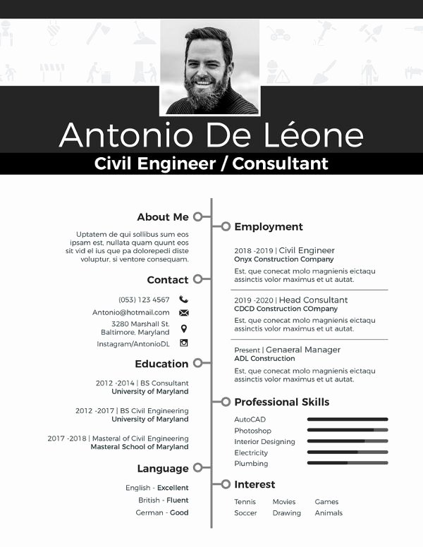 Engineer Resume Template Word Inspirational 10 Civil Engineer Resume Templates Word Excel Pdf
